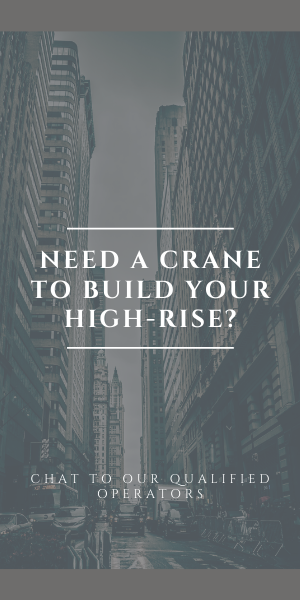 in need of a crane